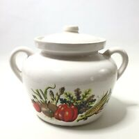 McCoy Cookie Jar / Bean Pot White With Vegetables #342