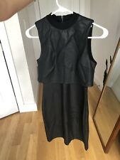 French Connection Dress 4 Black Faux Leather | Women's