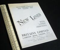 1939/1980s Britain's Ltd New Lines 1939 Catalogue. Facsimile.