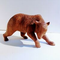 Vintage Hand Carved Wood Bear Hokkaido ? Black Forest ? American Folk Art ?
