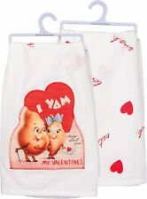 "New!~""I Yam crazy about you My Valentine!""~28""~Tea Towel~Hand/Kitchen/Dish"