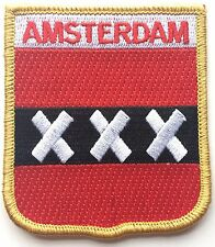 Netherlands Amsterdam Flag Embroidered Patch Badge