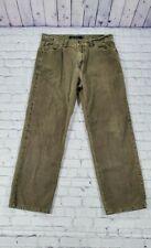Calvin Klein Green Corduroy Straight Leg Pants MEN'S SIZE 34