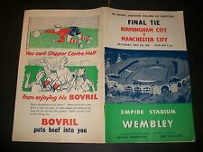 BIRMINGHAM CITY v MANCHESTER CITY   FA CUP FINAL 1956  Very good