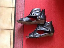Sandales cuir lisse noir TAMARIS pointure 38