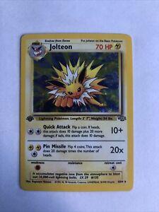 Jolteon 1st Edition Holo 4/64 1999 Pokemon Jungle Set WOTC LP