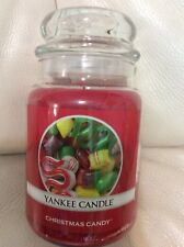 Yankee Candle Christmas Candy Large Jar 22oz NEW! Red Holiday Old Fashioned