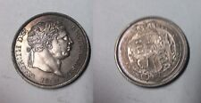 Rare 1820 Great Britain  Silver Shilling George III- Nice, Toned UNC