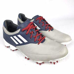 Adidas Adizero Tour Gray Blue Red Golf Shoes Men's Size 8, 674926 Rare Color