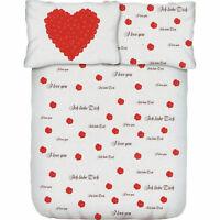 2 tlg. Bettwäsche Garnitur Mikrofaser Valentinstag Herzen weiß bügelfrei Öko-Tex