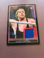 "2015 WWE TOPPS ""JACK SWAGGER"" AUTHENTIC SHIRT RELIC INSERT WRESTLING CARD - V/G"