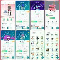 Pokemon Account Go Level 35 | 120 Shiny (Rare) | 56 Legendary (Rare)| 17 lV100