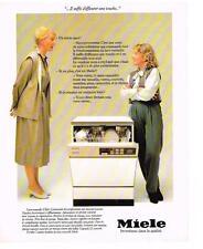 PUBLICITE ADVERTISING  1983   MIELE   lave vaisselle