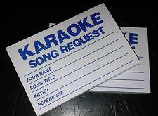 4 x 100 Karaoke request slips - Blue - FREE POSTAGE