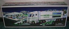 2003 HESS TOY TRUCK & RACE CARS NEW IN BOX HOLIDAY TRADITION LIGHTS PULL MOTORS
