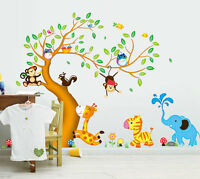 Wandtattoo Wandsticker Tiere Affe Wald Baum Spielzimmer Kinderzimmer Baby Top
