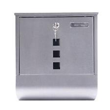 Steel Wall Mounted Home Office Mailbox Lock 2 Keys Newspaper Roll Holder Window