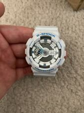 Casio G-Shock GA110LP-7A White Wristwatch for Men with Gray Dial