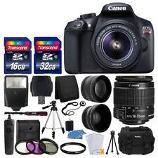 Canon EOS Rebel T6 DSLR Camera + 18-55mm Lens + 48GB + 3 Lens Top Value Bundle