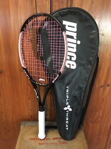 PRINCE TT MARIA Pink TENNIS RACQUET grip Triple-Threat with Case Mint