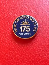 P&O cruises memorabilia new 175 anniversary magnet badge, Blue/White/Gold