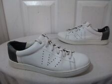 $295 VINCE VARIN WOMEN'S TWO TONE/LEATHER LOW TOP LACE UP SNEAKERS EU 37 US 7 M
