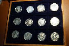 """Göde Münzen - 12 Münzen """" Russischer Gedenkrubel """" 1987-1991 PP in Münzbox"""