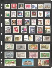 SHEET OF 43  CANADA  FINE USED STAMPS      (07)