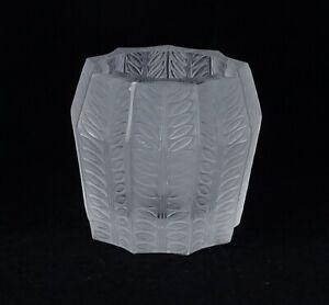 Lalique Vintage Crystal Fern Design Small Vase Toothpick Holder