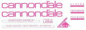 Cannondale Decal 1987 - 1988; Alpine, Criterium, and Touring