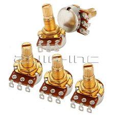 5pcs A250K Potentiometer 18mm Shaft Guitar Tone Control Pot OHM Audio Taper