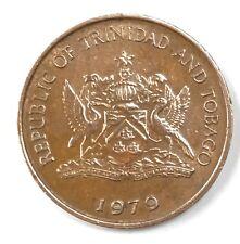 TRINIDAD & TOBAGO 1 CENT 1979 MONETA MOLTO RARA DA COLLEZIONE