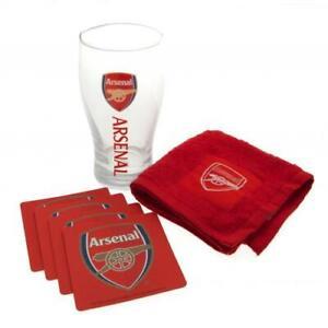 ARSENAL FC OFFICIAL MINI BAR SET PINT GLASS FATHERS DAY BIRTHDAY GIFT XMAS