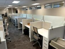 4ftw X 3ftd X 5ft Tall Glass Top Sales Call Center Cubicles 81 Avail Installed