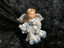 MONTEFIORI COLLECTION Blue Angel Figurine, Designed In Italy. Made In China