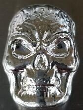 1 oz .999 Silver hand poured Skull art bar memento mori human skeleton Celtic