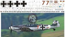"Peddinghaus 1/48 Bf 109 G-4 ""Rote Sieben"" Markings Restored Airplane by MAC 1967"