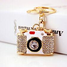 Classic Camera Shaped Crystal Diamante Bag Charms Handbag Keyrings Pendant