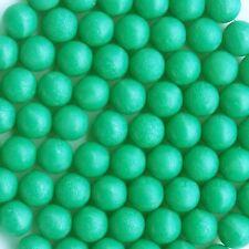 100 New .68 cal Reusable Rubber Training Balls Paintballs Green Color