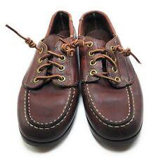 Sebago Campsides Burgundy Leather Lace Up Comfort Shoes Women's Sz 7N Narrow