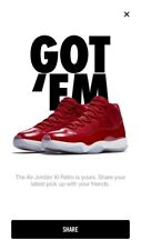 """Jordan retro 11 gym red """"win like 86"""" in hand 100% authentic. Size 9"""