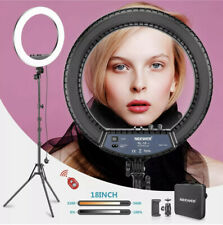 Neewer RL-18II Bi-color 18-inch LED Ring Light with Stand 55W 3200-5600K Light