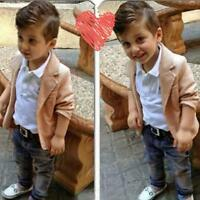 3pcs Toddler Baby Boys Kids Shirt Tops+Coat+Pants Clothes Outfits Gentleman Set