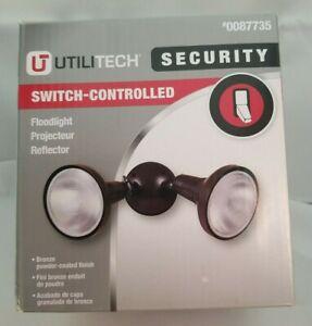 Ultitech Security Switch Controlled Bronze Powder Coat Flood Light (3.1)
