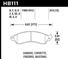 Hawk Disc Brake Pad Front for 85-04 Ford Mustang / Chevrolet Corvette / Firebird