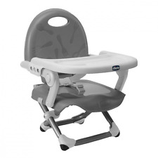 Chicco Pocket Snack Child Baby Booster Seat Highchair Feeding Chair - Silver NEW