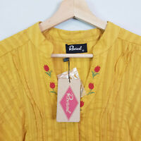 REVIVAL | Womens Fete Blouse Top in Mustard Colour NEW [ Size AU 16 or US 12 ]