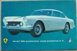 FERRARI 250 GRANTURISMO COUPE PININFARINA 2+2 Car Sales Brochure c1960