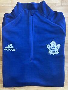 Women's Adidas Toronto Maple Leafs 1/4 Zip Shirt / Medium / Blue / Long Sleeve /