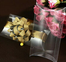 25PCS PVC Pillow Style Clear Candy Box Wedding Party Sweet Gift Favor Box